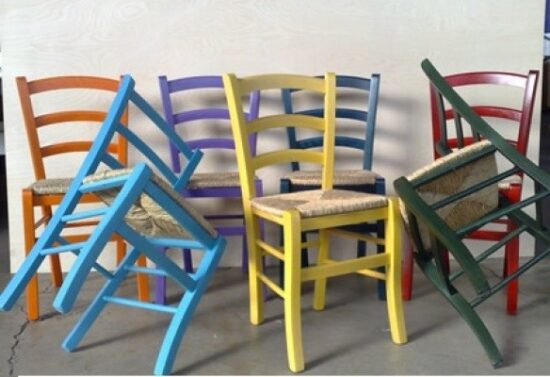 sedia Achille colorate