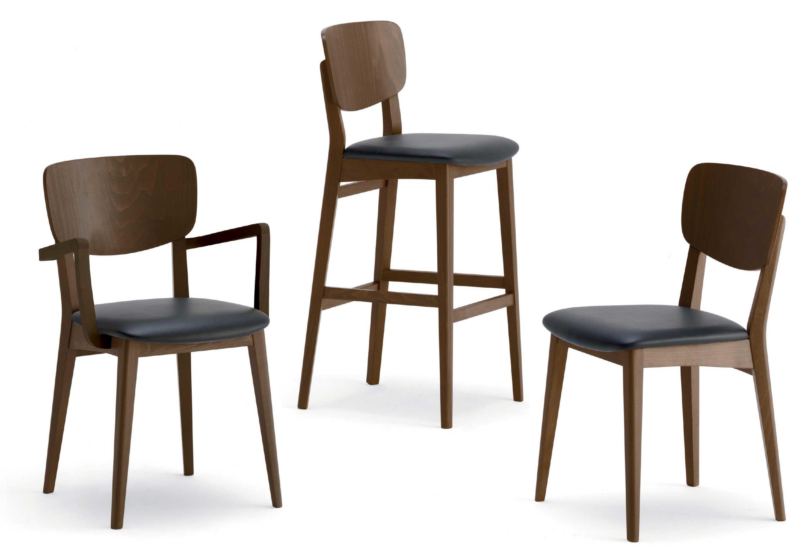 Sedie In Legno Imbottite.Anja Sedia In Legno Seduta Imbottita O In Massello Agape Forniture