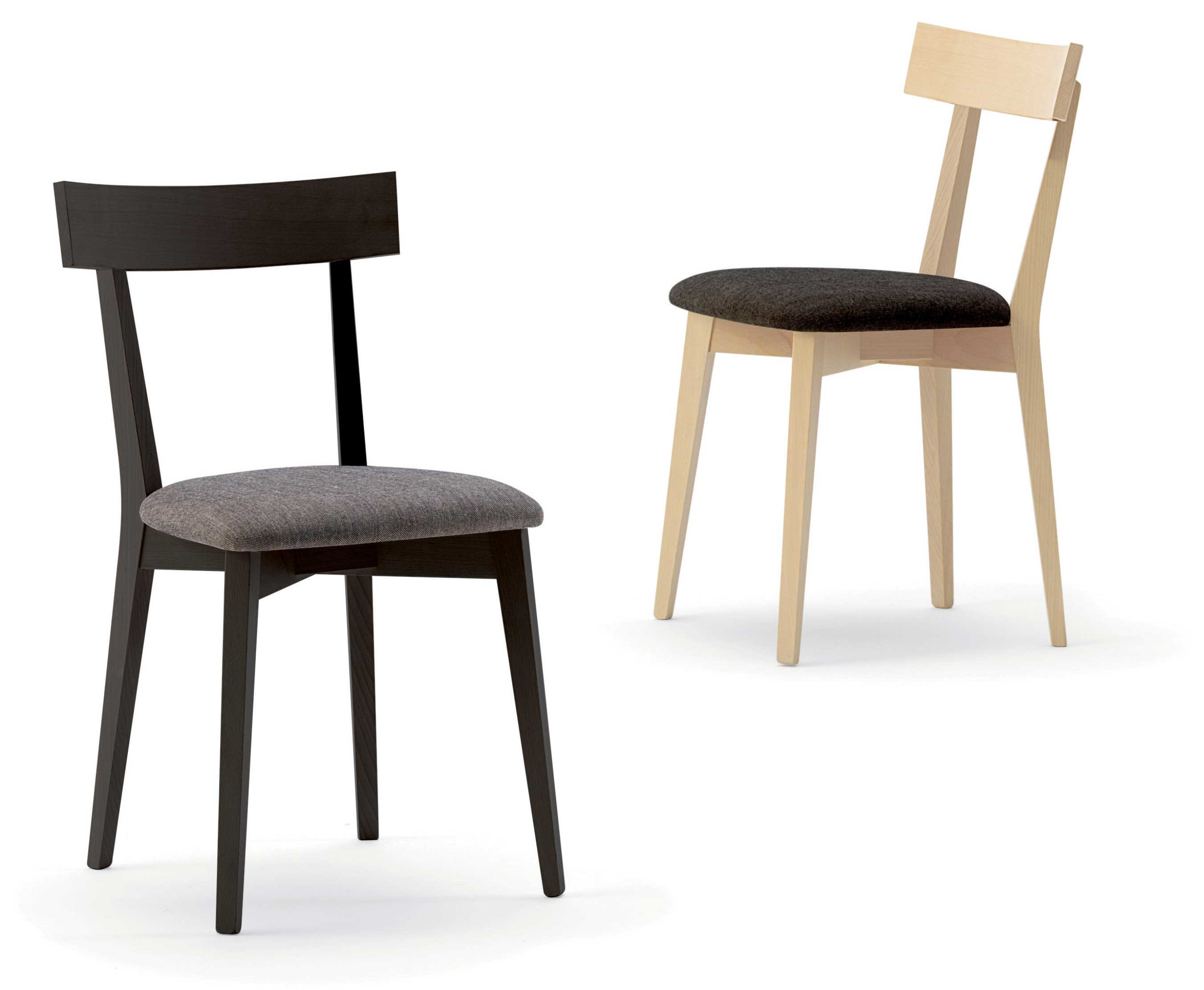 Sedute Per Sedie In Legno.Clip Sedia In Legno Seduta Imbottita O In Massello Agape Forniture