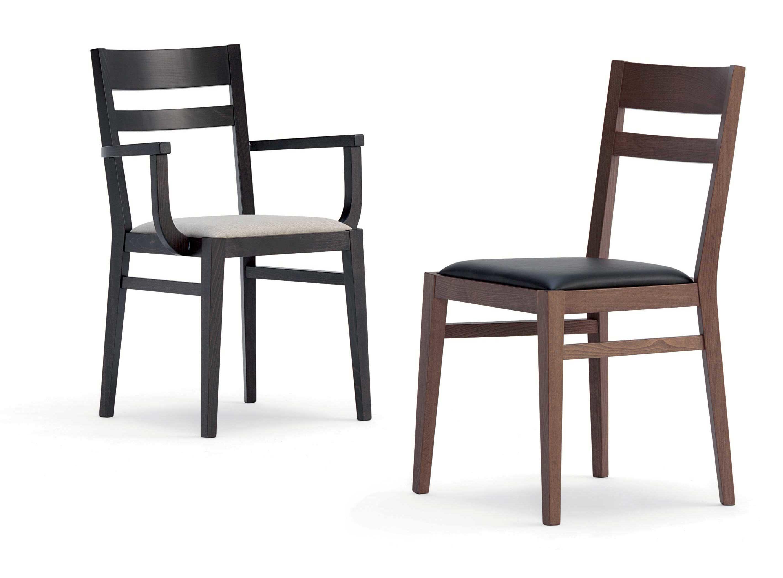 Sedie In Legno Imbottite : Gloria sedia in legno con seduta imbottita o in massello u agapè
