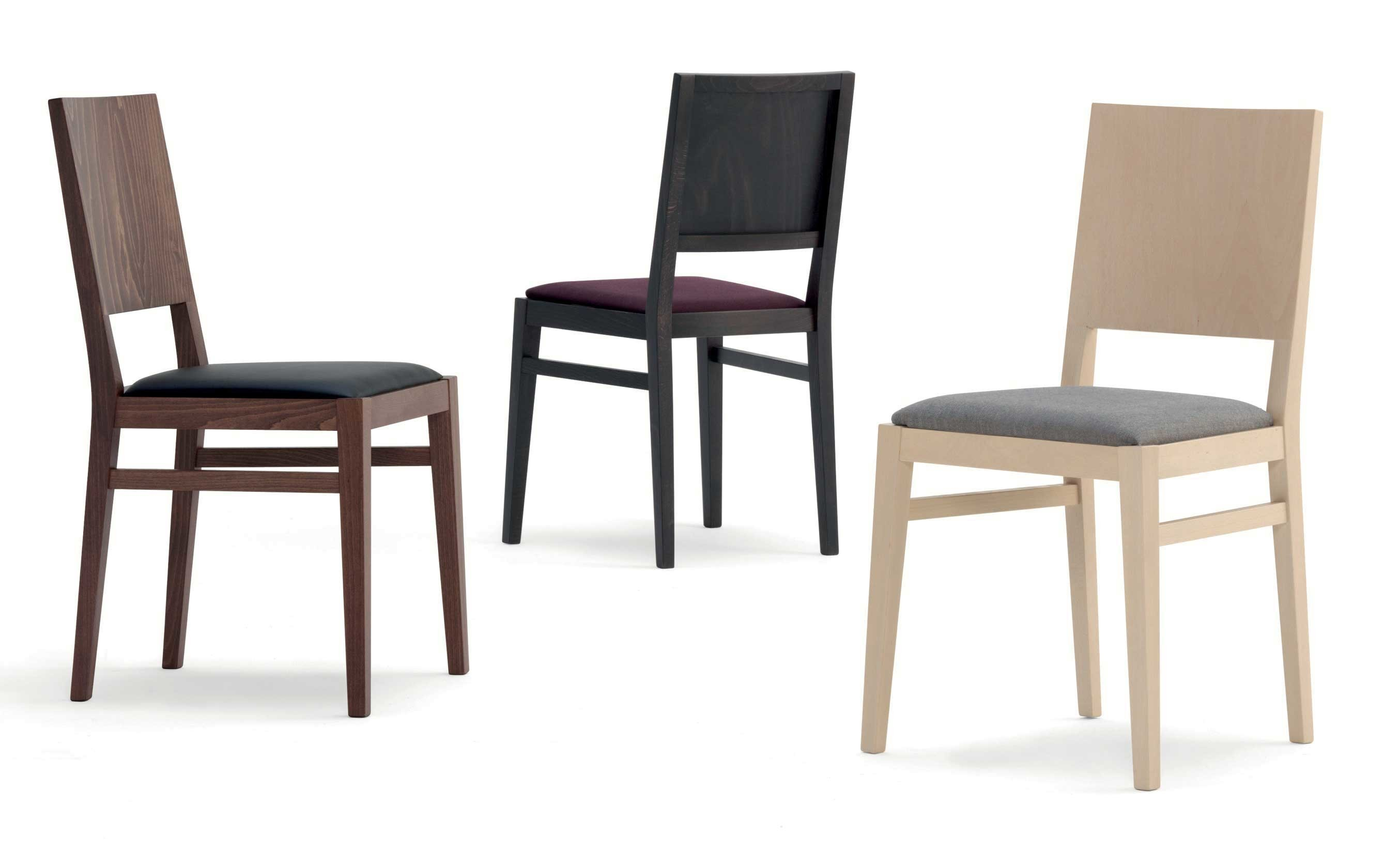 Sedie In Legno Imbottite : Laura sedia in legno con seduta imbottita o in massello u agapè