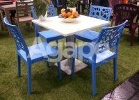 tavolo Rea e sedia Natura azzurra
