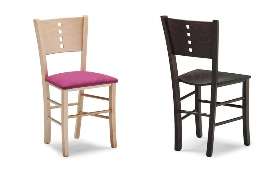 Sedie In Legno Imbottite : Biella b sedia in legno seduta imbottita paglia o in faggio
