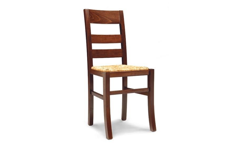 Sedie In Legno Imbottite.Lory 415 Sedia In Legno Con Seduta Imbottita O Paglia Agape Forniture