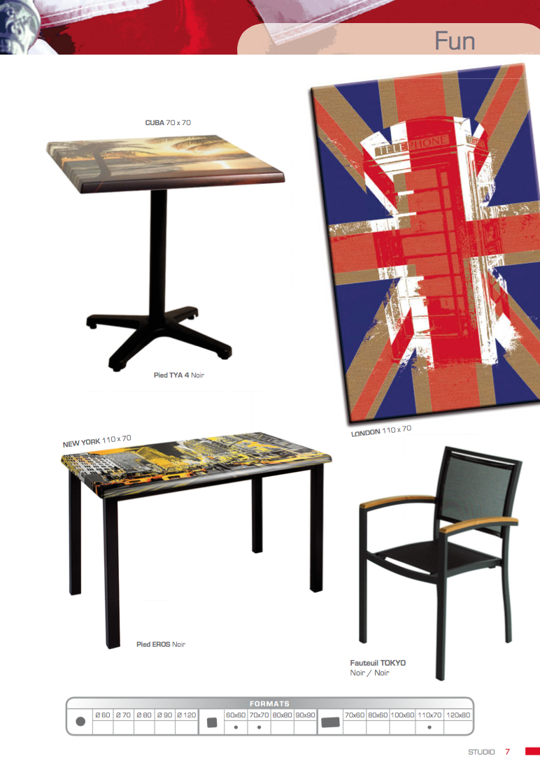 Piano tavolo esterno werzalit high agap forniture for Tavolo cucina 80x60