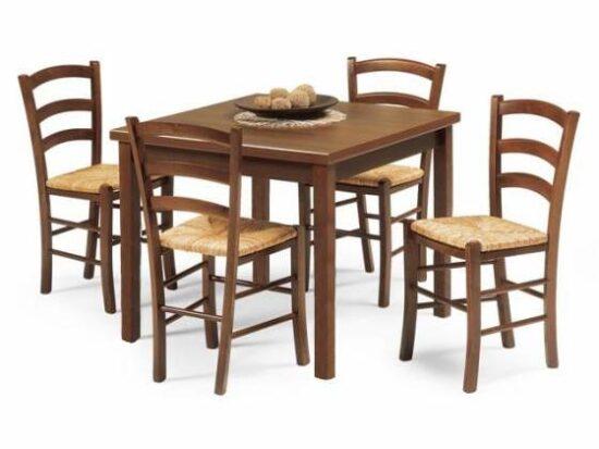 tavolo Poppea con sedie Achille