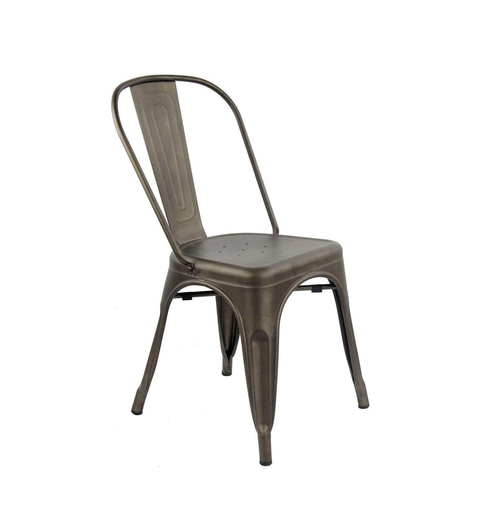Lami sedia in metallo industriale agap forniture for Sedie design industriale
