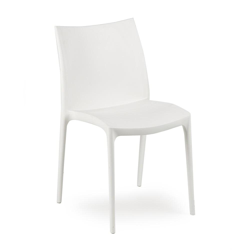 Lampo sedia impilabile polipropilene agap forniture for Sedia design bianca