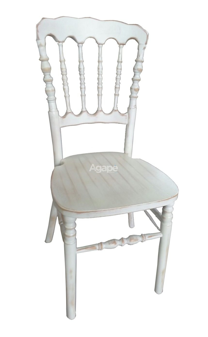 Sedia Faggio Massello Parigina Decapè Bianco – Agapè Forniture
